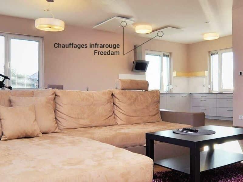 Chauffage infrarouge Freedam- Plafond
